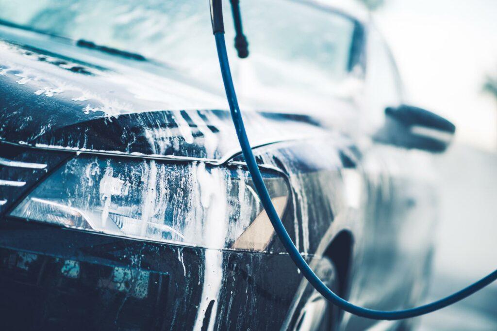 car having a wash