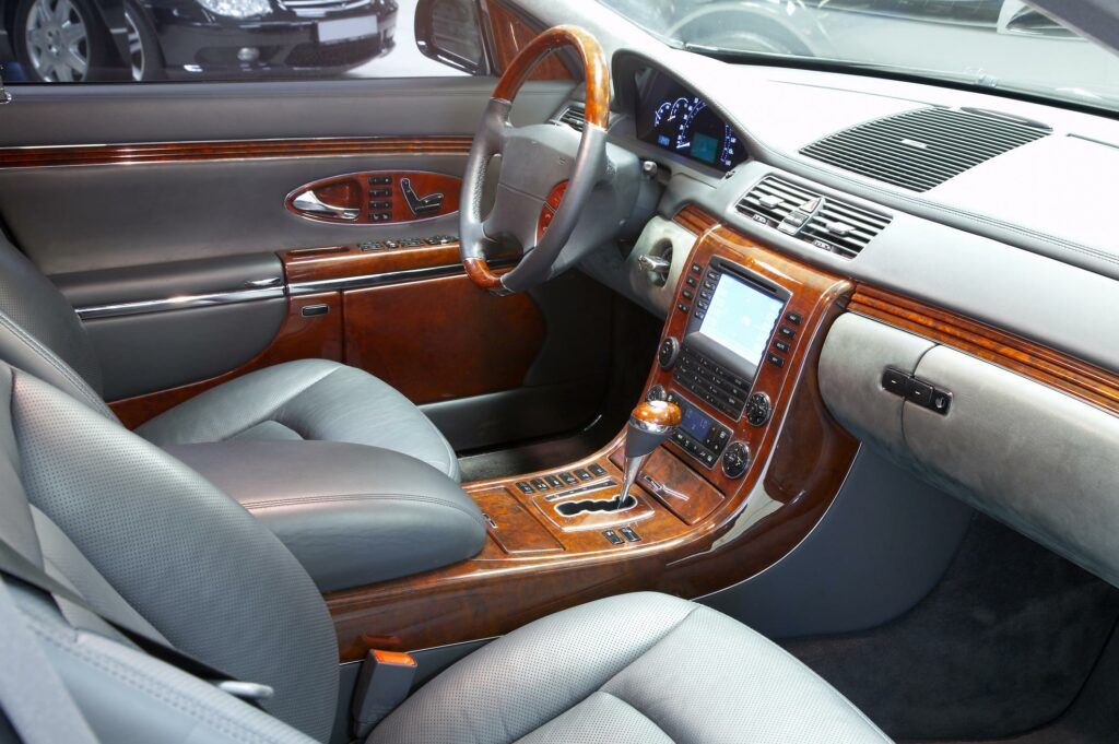 showing interior details of a car